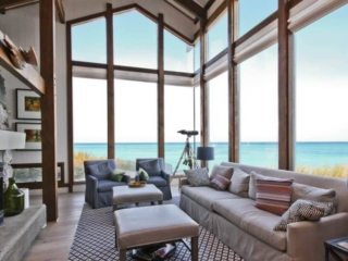 Lake Michigan Beach home Main Living Space