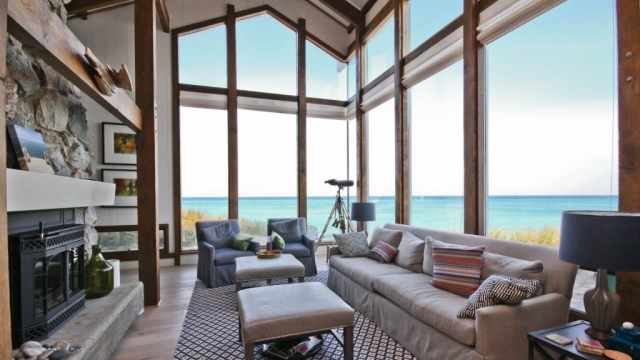 Lake Michigan Beach home Main Living Space