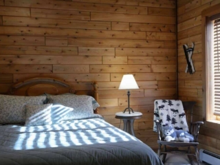 Knotty pine walls are just one of many specialty materials we work with.