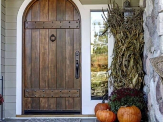 This handmade door greets its Traverse City home owners