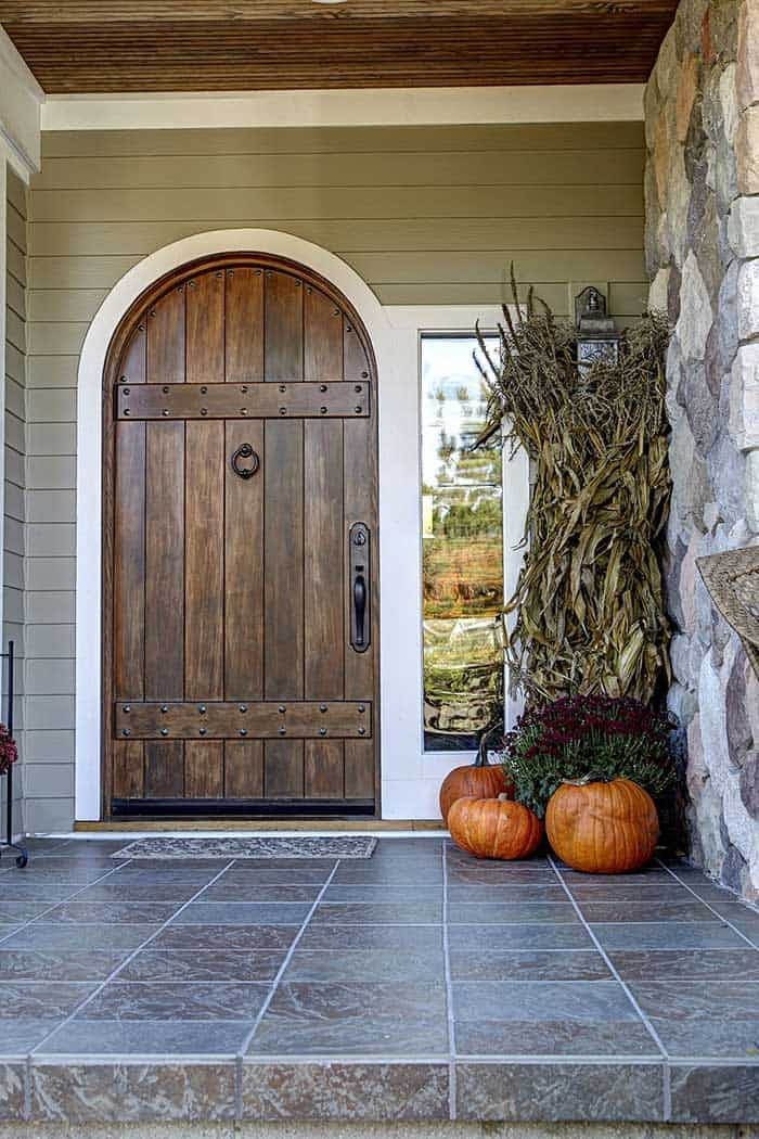 Custom made riveted domed entrance door