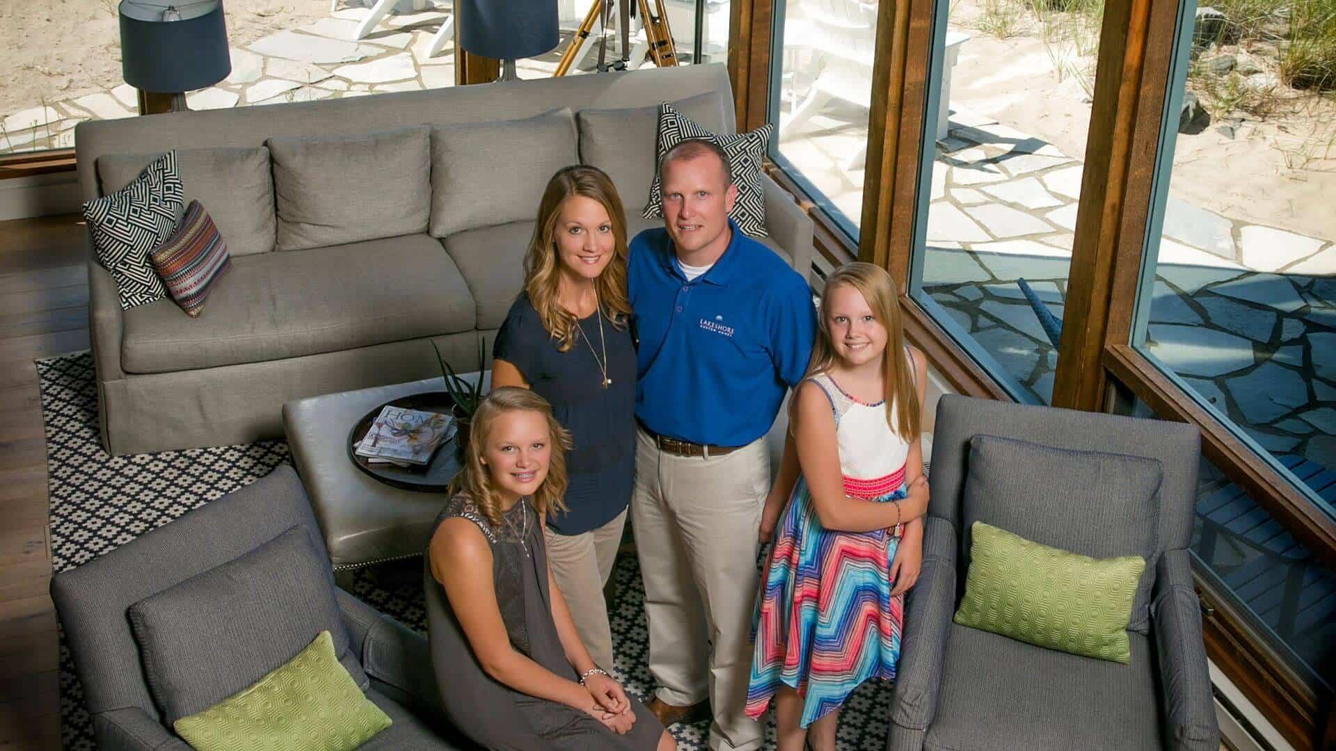 Chris Mason and family