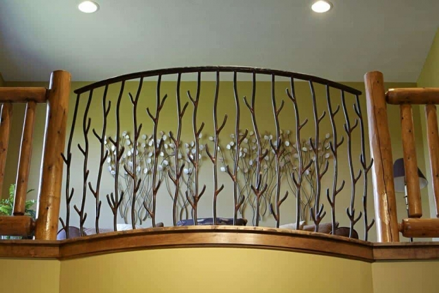 Custom made rustic railing