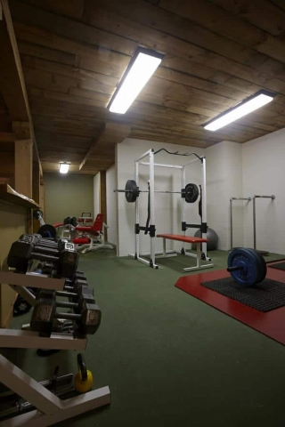 Workout and fitness room